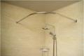 济缘卫生间不锈钢L形浴帘杆弧形  浴室转角L型浴室杆  一件代发